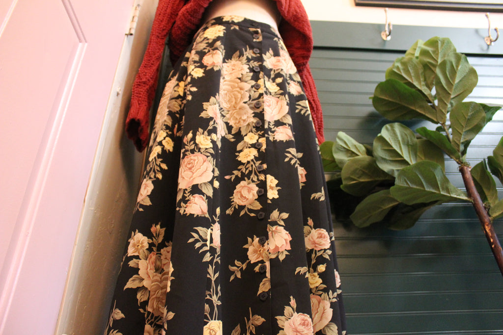 Blush and Yellow Rose Skirt