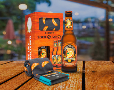 Shock Top beer custom socks