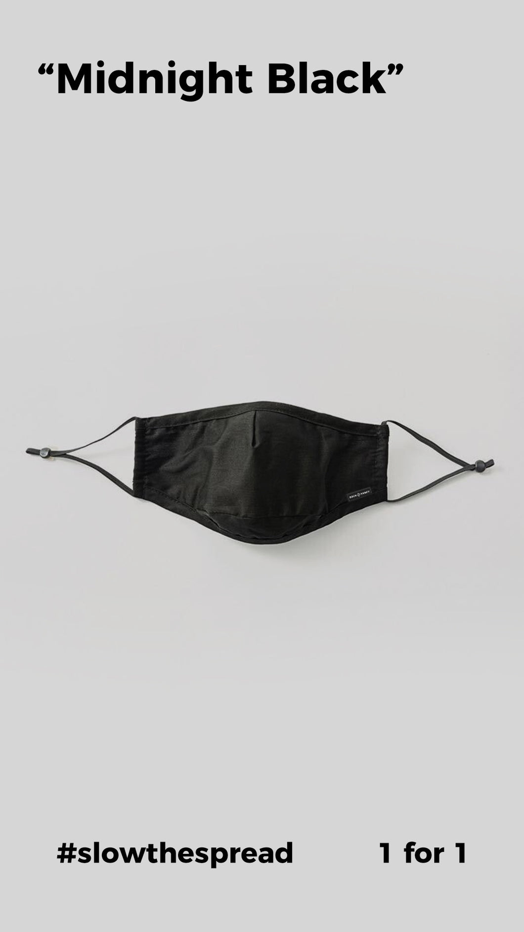 Triple-Layer Cloth Face Mask - Midnight Black