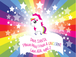 Dear Santa, Please May I Have A Unicorn? (Hardcover)