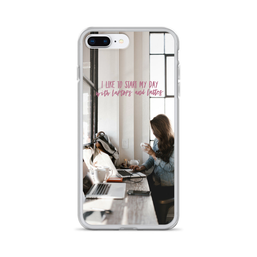 Laptops And Lattes IPhone Case