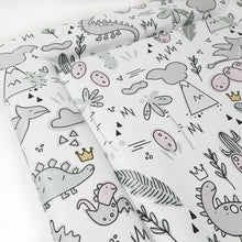 Load image into Gallery viewer, Deluxe Baby Changing Mat - Dinosaur