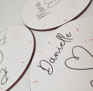 Personalised Love Heart Valentines Coaster