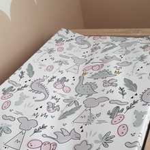 Load image into Gallery viewer, Deluxe Wedge Anti-roll Baby Changing Mat - Dinosaur