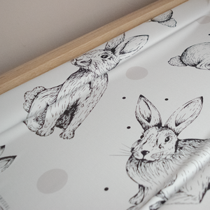 Deluxe Baby Changing Mat - Rabbit Spot
