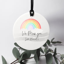 Load image into Gallery viewer, Rainbow Keepsake Personalised Hanging Decoration Stay Safe