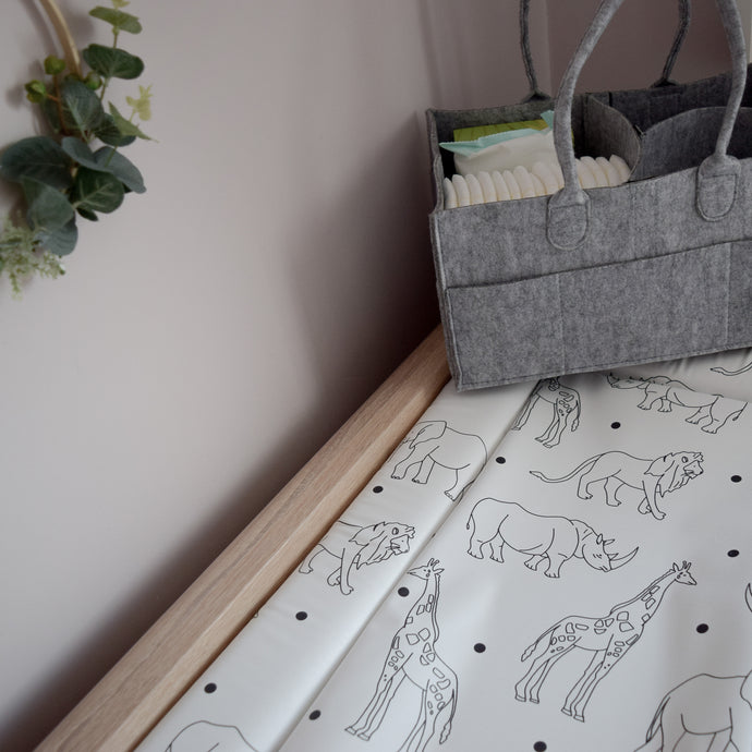 Deluxe Baby Changing Mat - Animals