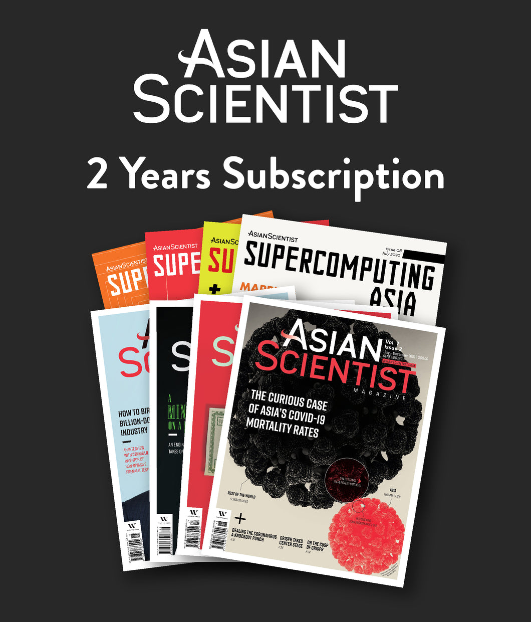 Two-year subscription plan to Asian Scientist Magazine (4 issues)