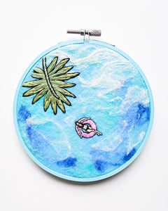 Mini Lagoon No. 28 Original Art - 5 in. hoop