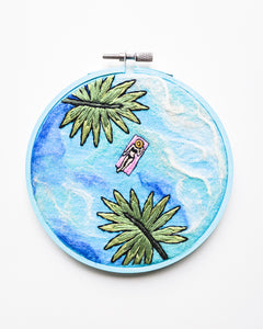 Mini Lagoon No. 29 Original Art - 5 in. hoop