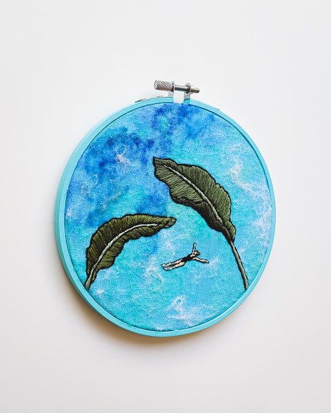 Mini Lagoon No. 30 Original Art - 6 in. hoop