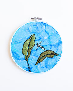 Mini Lagoon No. 33 Original Art - 6 in. hoop