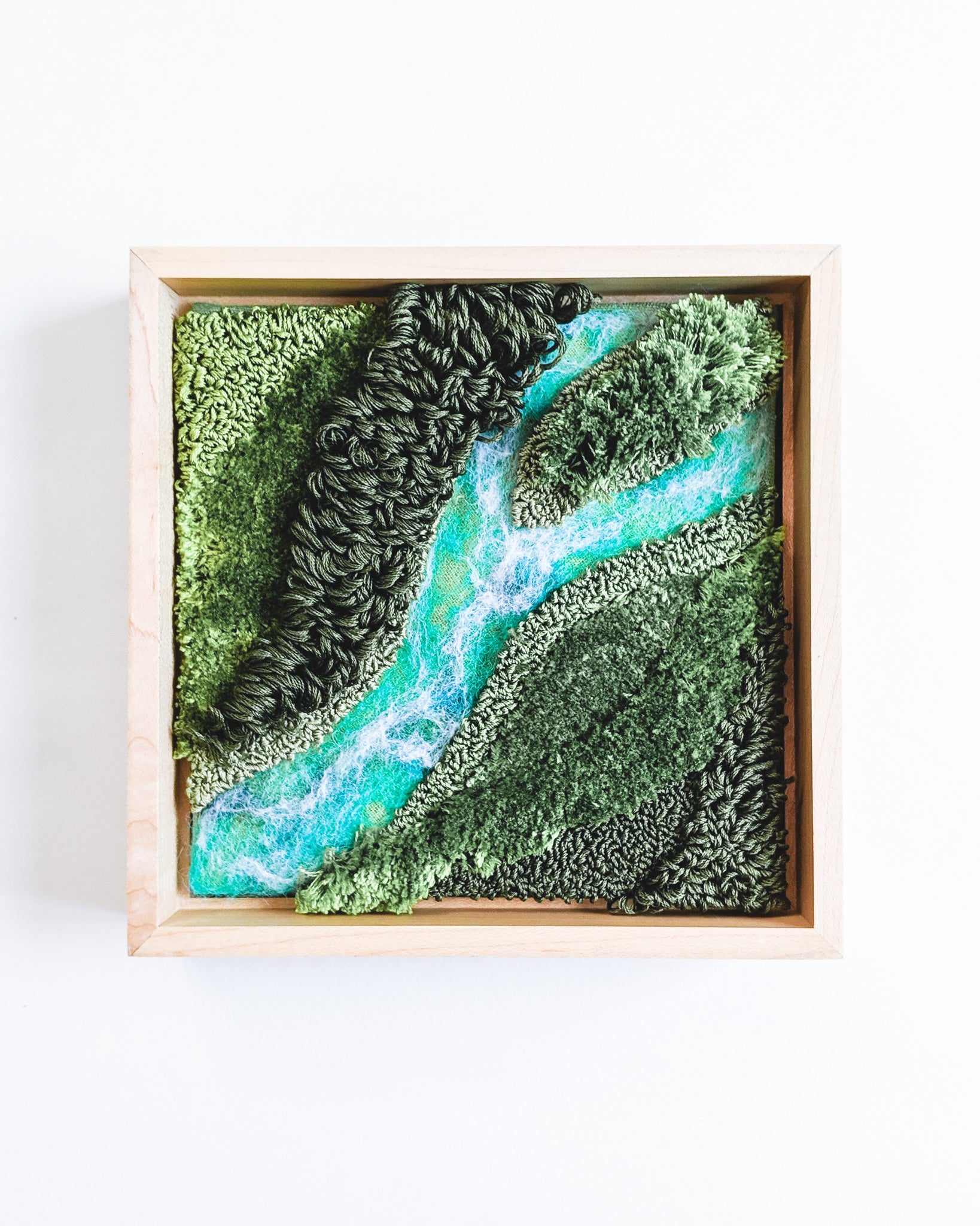 River no. 1 Original Fiber Painting