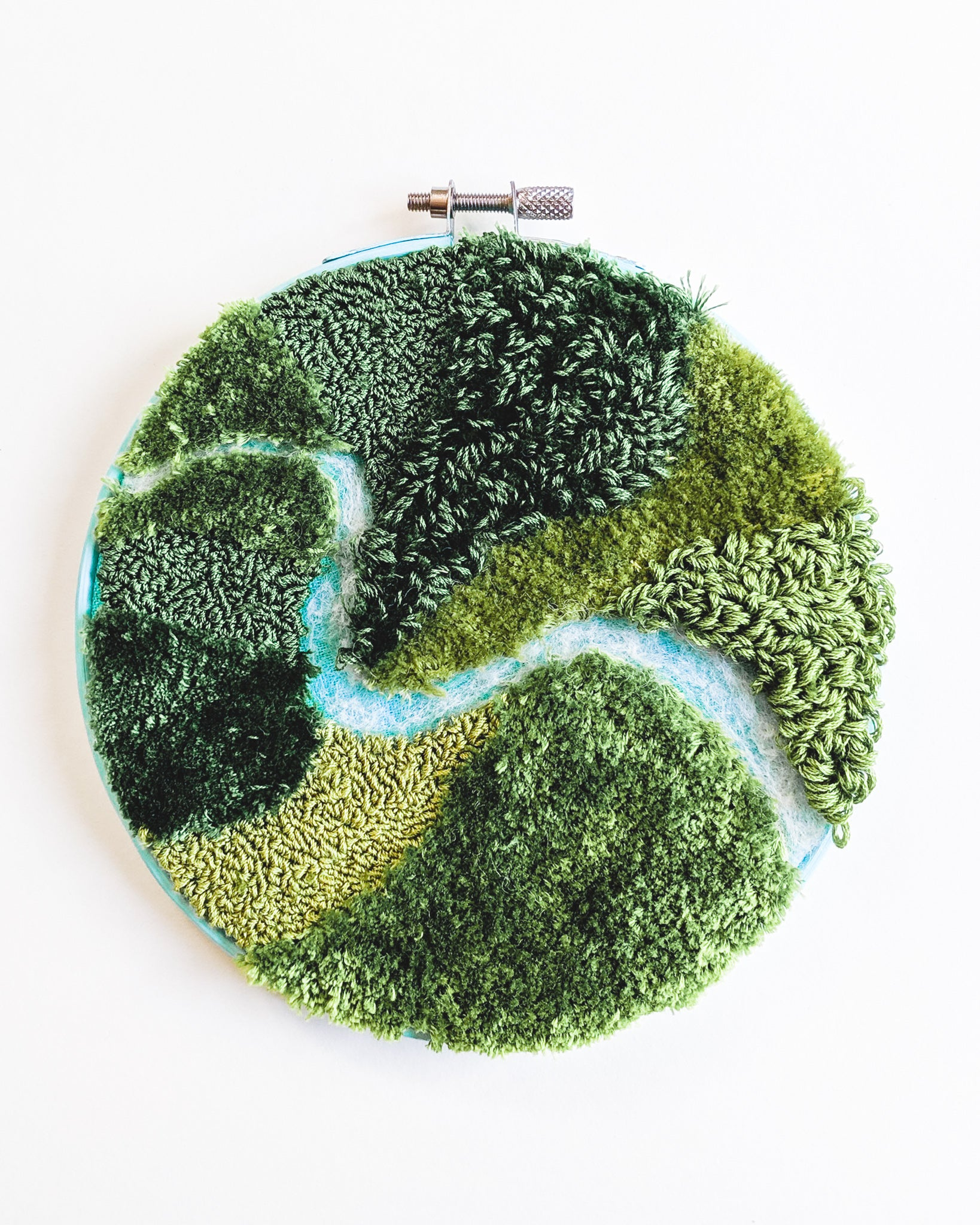 Mini River no. 1 Original Art - 6 in. hoop