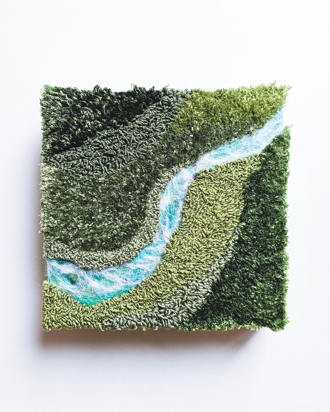 River no. 3 Original Fiber Painting