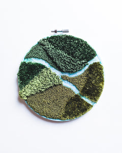 Mini River no. 4 Original Art - 6 in. hoop