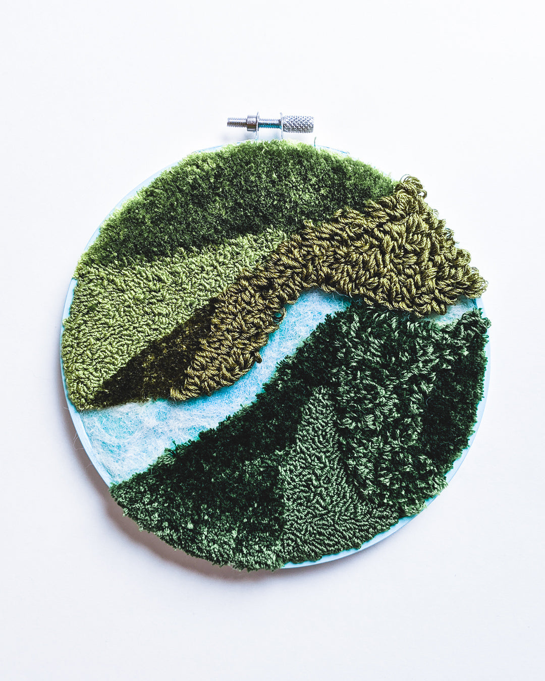 Mini River no. 5 Original Art - 6 in. hoop