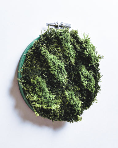 Moss Study no. 2 Original Art - 4 in. hoop