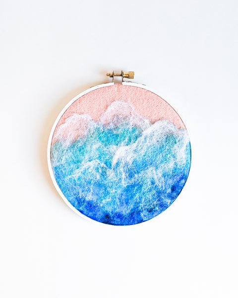 Ocean no. 4 Original Art - 5 in. hoop