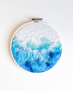 Ocean no. 3 Original Art - 6 in. hoop