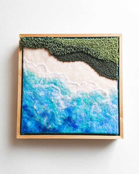 Seascape no. 4 Original Fiber Painting