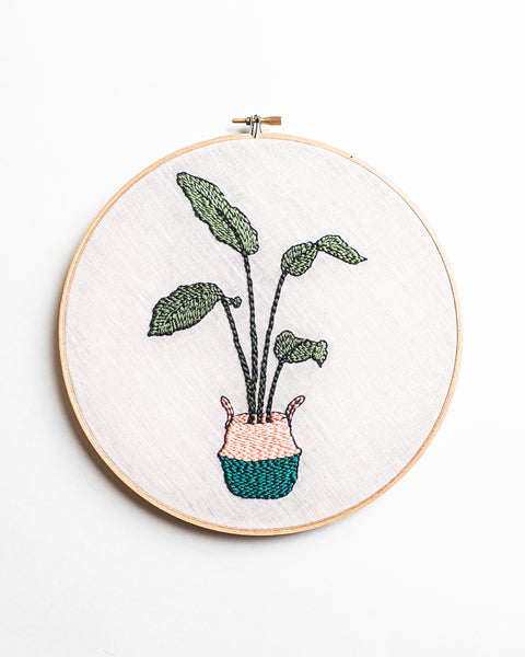 Bird of Paradise Strelitzia Punch Needle Embroidery Pattern PDF