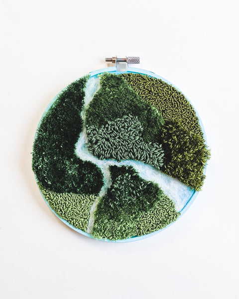 Mini River no. 2 Original Art - 6 in. hoop