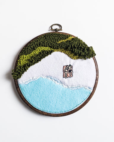 Vacationland No. 3 Original Art - 6 in. hoop