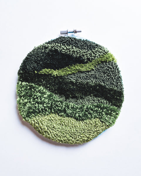 Mini Meadow no. 1 Original Art - 6 in. hoop