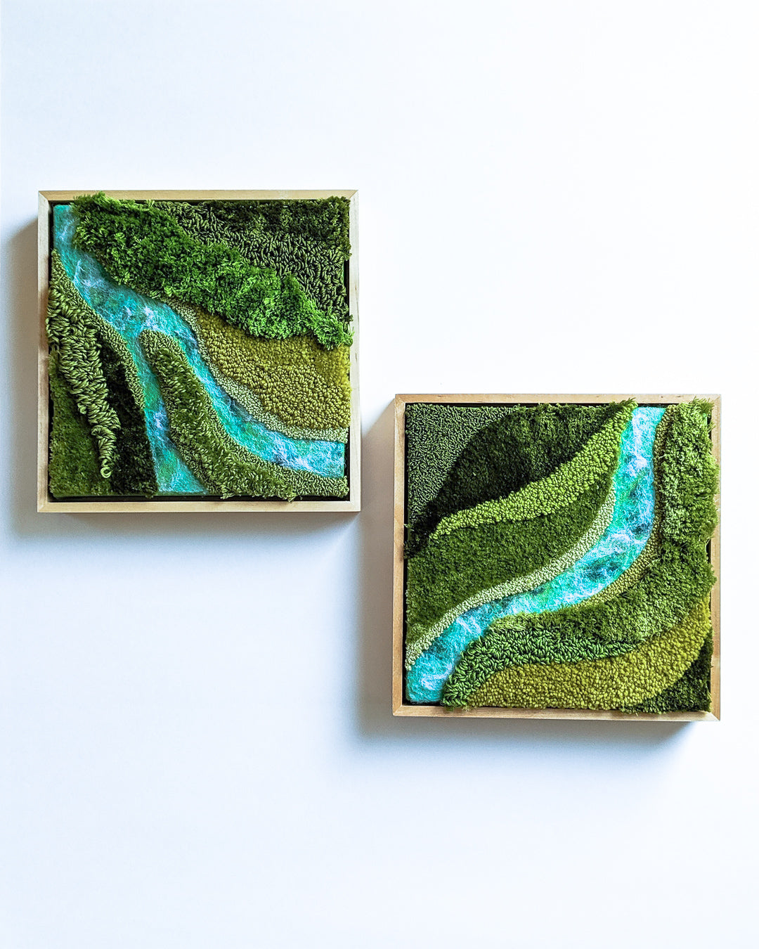 River Diptych Original Painting