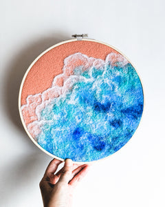 Ocean no. 2 Original Art - 9 in. hoop