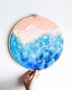 Ocean no. 1 Original Art - 10 in. hoop
