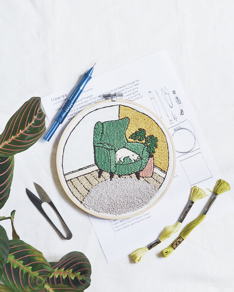 Cozy Corner Embroidery Pattern PDF