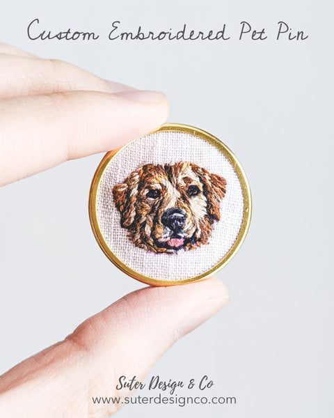 Custom Embroidered Dog Pin