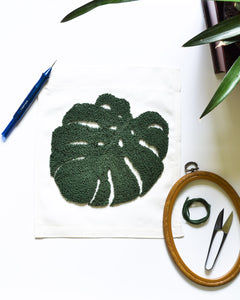 Monstera Leaf Embroidery Pattern PDF