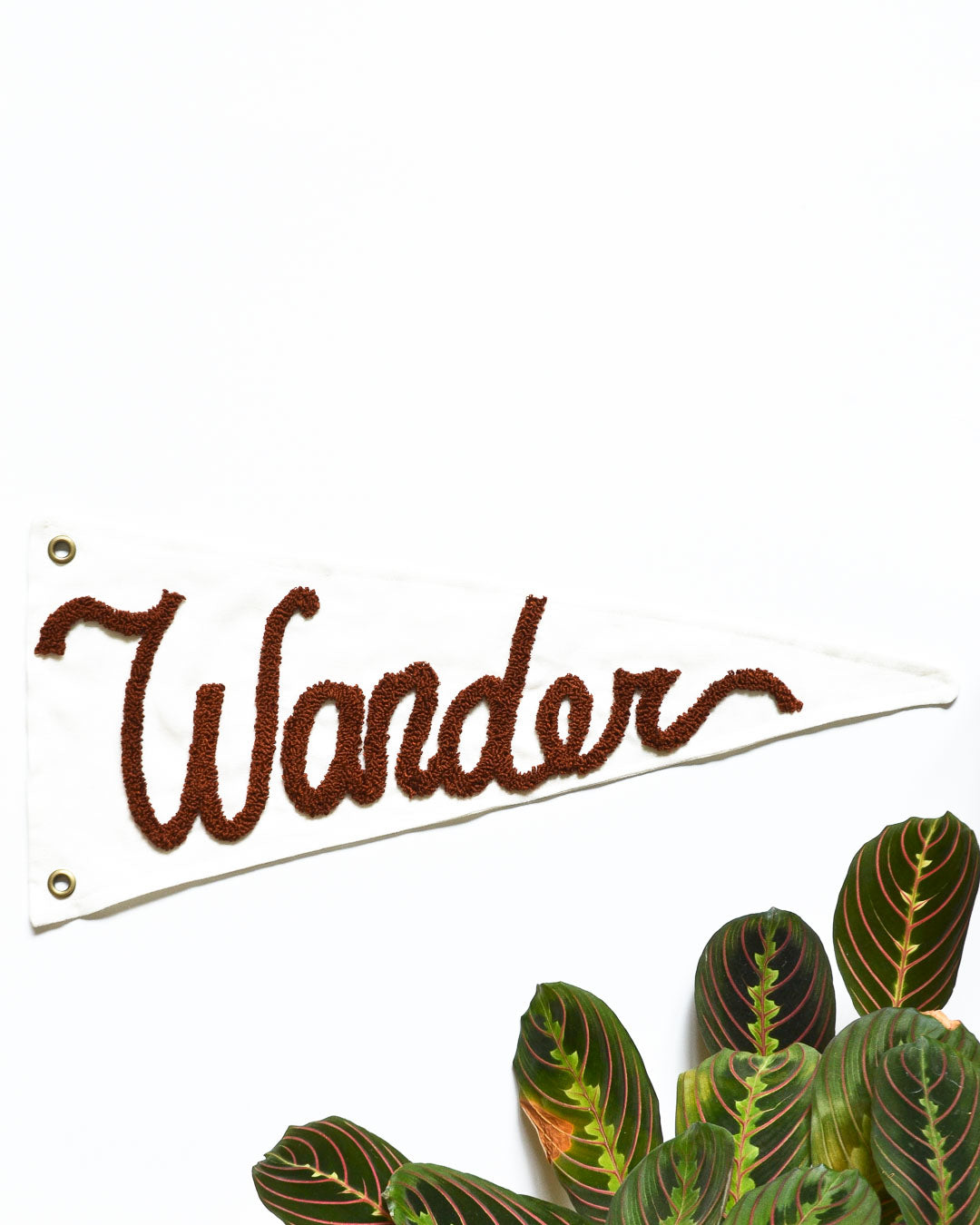 """Wander"" Pennant - Warm Brown"