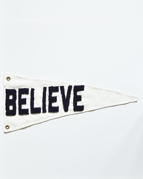 """Believe"" Pennant - Dark Navy"