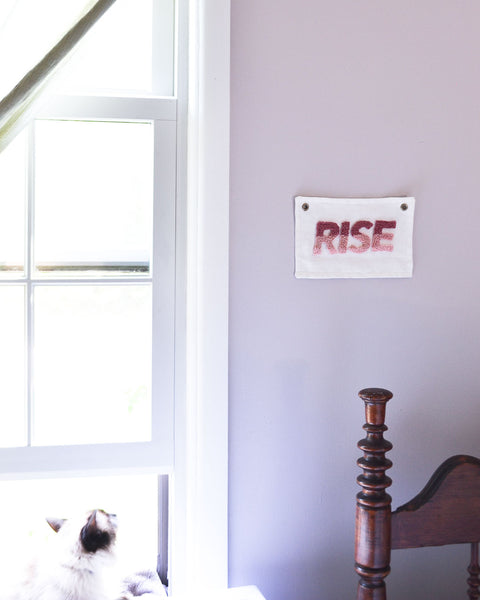"""Rise"" Mini Banner - Pink Ombre"