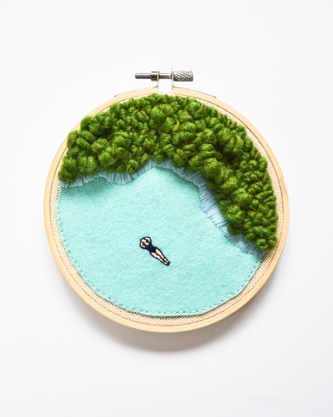 Mini Lagoon No. 8 Original Art - 5 in. hoop