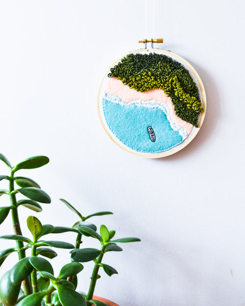 Mini Surf No. 1 Original Art - 5 in. hoop