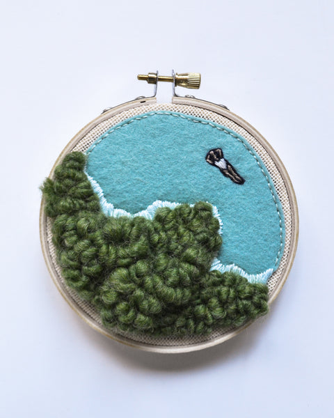Mini Lagoon No. 14 Original Art - 4 in. hoop