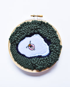 Mini Lagoon No. 22 Original Art - 5 in. hoop