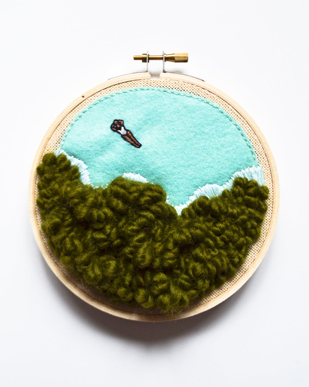 Mini Lagoon No. 10 Original Art - 5 in. hoop