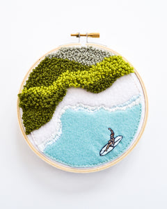 Mini Surf No. 4 Original Art - 5 in. hoop