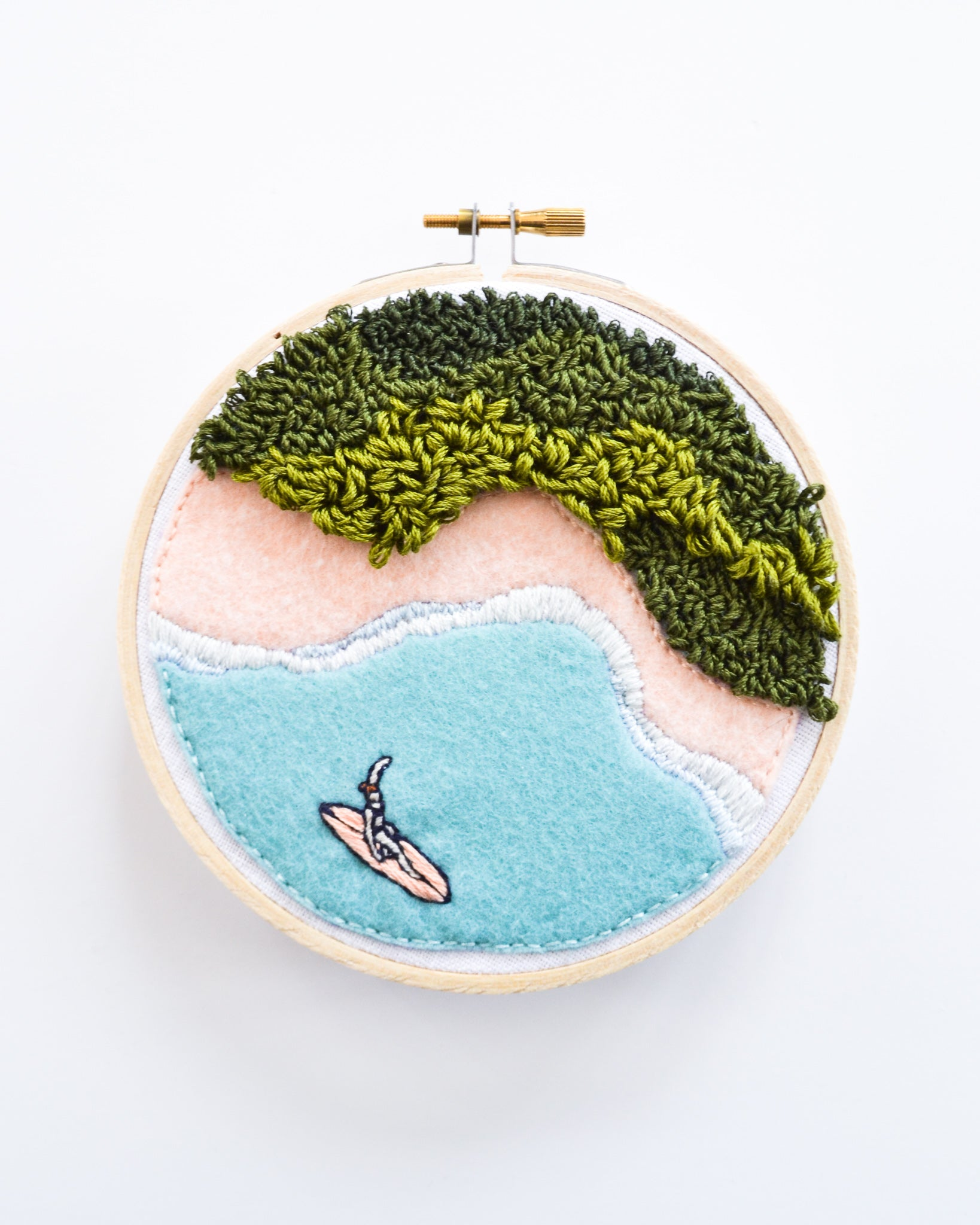 Mini Surf No. 5 Original Art - 5 in. hoop