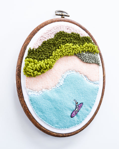 Mini Surf No. 6 Original Art - Oval hoop