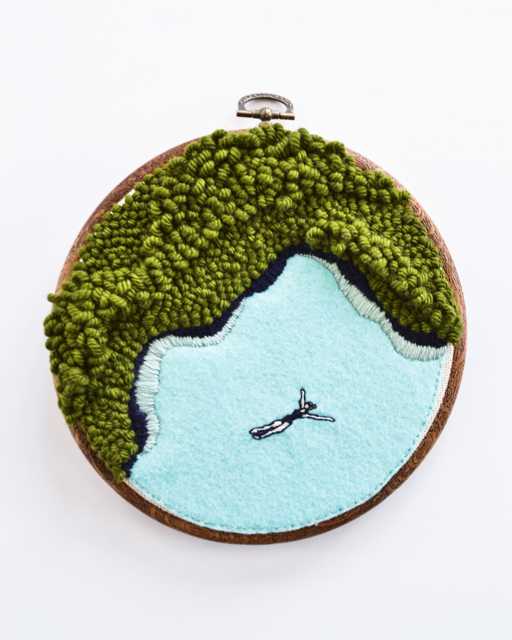 Mini Lagoon No. 25 Original Art - 6 in. hoop