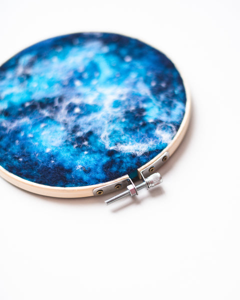 Galaxy Wool Felted Original Art no. 5 - 6 in. hoop