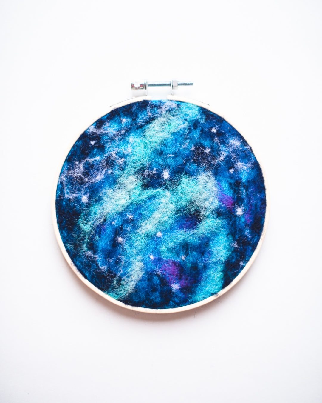 Galaxy Wool Felted Original Art no. 1 - 5 in. hoop