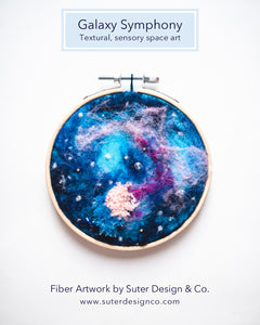 Galaxy Symphony no. 3 Wool Felted Original Art - 4 inch hoop